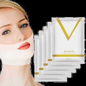 5 packs of v shape face mask