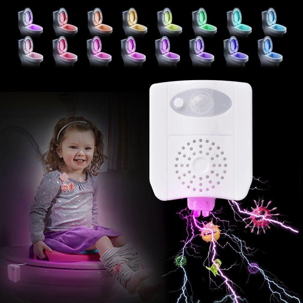 16 Colors Auto-Sensing Toilet Light & Aromatherapy & UV Disinfection 1