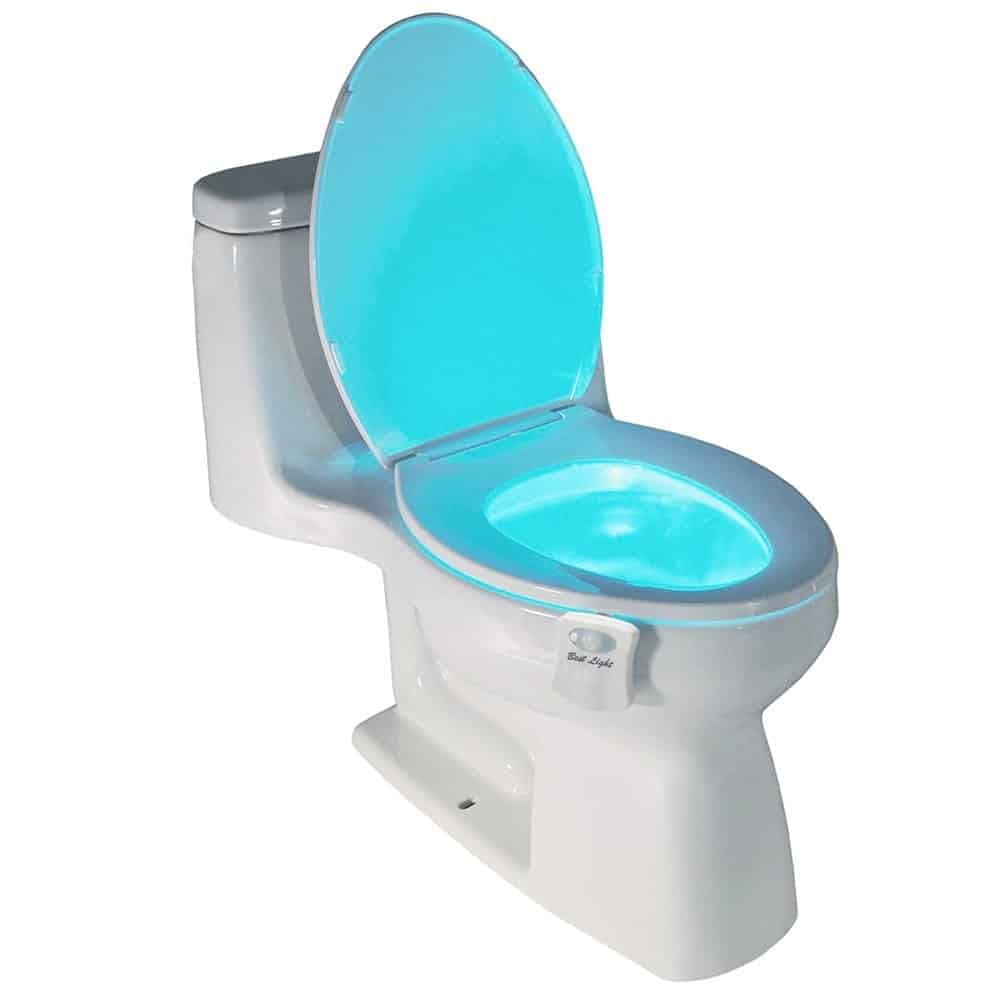 glowing toilet bowl