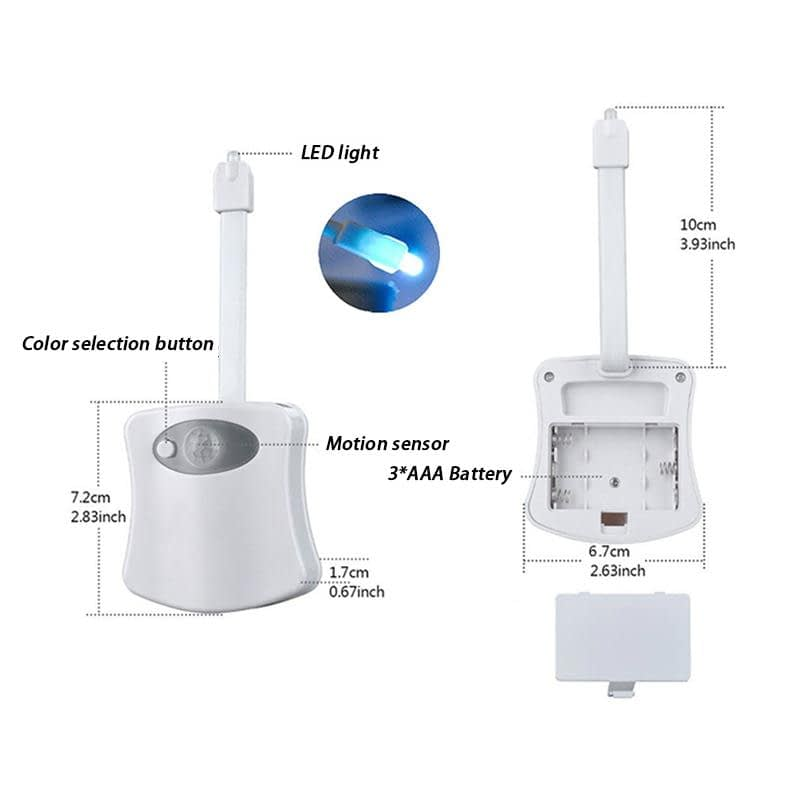 8 Color Auto-Sensing Toilet/WC Light 1