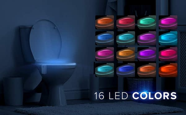 LumiLux Advanced 16-Color Motion Sensor LED Toilet Bowl Light 2